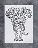 GSS Designs SL-059 Wandschablone (30,5 x 40,6 cm) – Mandala-Elefanten-Wandschablone – lebendiges...