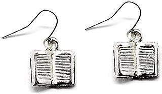 Best silver book earrings Reviews