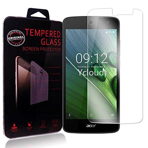 Ycloud Panzerglas Folie Schutzfolie Bildschirmschutzfolie für Acer Liquid Zest (5.0 Zoll) screen protector mit Festigkeitgrad 9H, 0,26mm Ultra-Dünn, Abger&ete Kanten