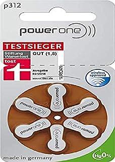 60x Baterías Varta PowerOne P 312 para Aparato Auditivo PR41 - 180 mAh 1.4V