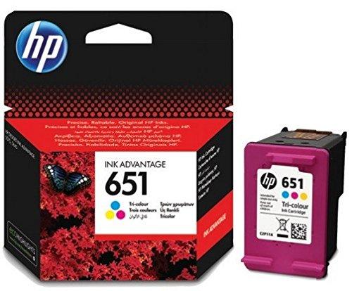 Cartucho de tinta original de HP c2p10ae HP 651hp651para HP Deskjet Ink Advantage 5575–Black–Potencia: aprox. 600Páginas/5%, color (05) 2x Tintenpatrone - Color