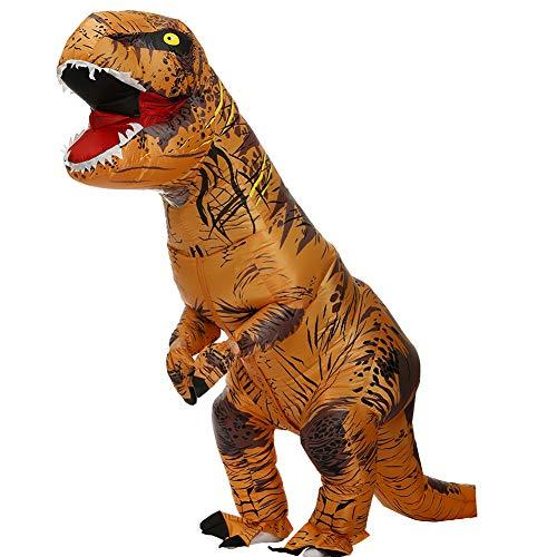 Trex Kostüm Dinosaurier Kostüm Aufblasbares Kostüm Dino Aufblasbare Kostüme für Erwachsene Kinder Halloween Karneval Party Cosplay 210CM