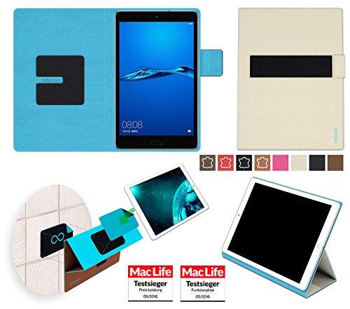 reboon Hülle für Huawei MediaPad M3 Lite 8.0 Tasche Cover Case Bumper | in Beige | Testsieger