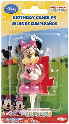 dekora–candela di Compleanno Minnie Numero 4 6.5 multicolore