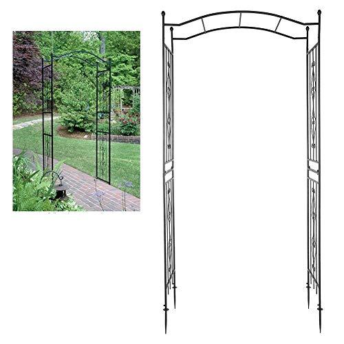 AYNEFY Metal Arch, Garden Climbing Plants Rose Arbor for Outdoor Patio Lawn Backyard Party Wedding Ceremony Decoration