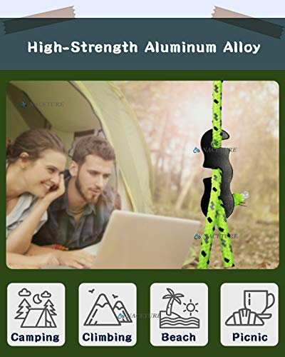 NACETURE Aluminum Alloy Rope Tensioner Camping Tent Guyline Cord Adjuster Camping Gear for Camping, Hiking, Backpacking Ultralight Tent Stakes Guy Lines Tensioner Tent Cord Sliver 20 Pack