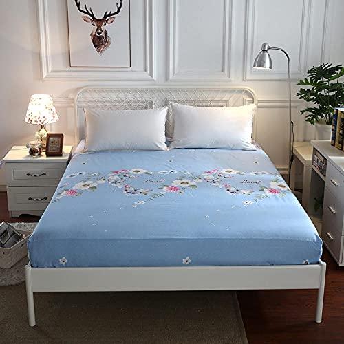 CYYyang Protector de colchón de Rizo algodón y Transpirable Paquete Completo de sábanas de un Solo producto-18_150x200 + 25cm