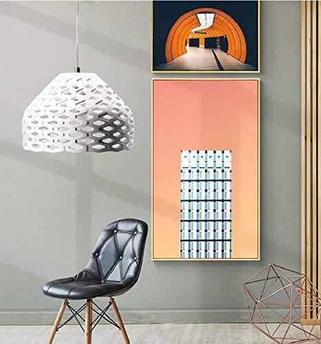 BHA lampara de techo de sala de comedor de la lampara arana de la industria retro Hangelleuchte E27 60W lamparas dormitorio pantalla de cocina blanca redonda mesa de comedor rustico