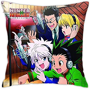Hunter X Hunter Throw Pillow Covers Decorative Bed Pillow Cases Cushion Pillowcase for Sofa Couch Bedroom Home Decor 18 X 18 Inch