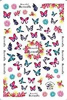 ネイルシール 蝶柄 ネイルステッカー 3D 蝶 ネイルアートシール ネイル装飾 デコレーション マニキュア 人気 おしゃれ 3枚セット(color7)
