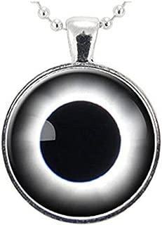 yi sheng Total Solar Eclipse Necklace, Space Jewelry, Galaxy Nebula Pendant,