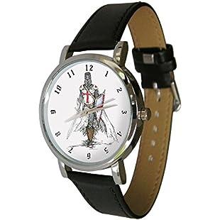 Knights Templar Wristwatch - Order of the Temple - Masonic. Genuine Leather Strap:Interdir