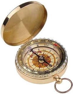 T5618 brújula sólida hecha de bronce Huntington Compass líquido amortiguado profesionalmente con rosa de los vientos transparente
