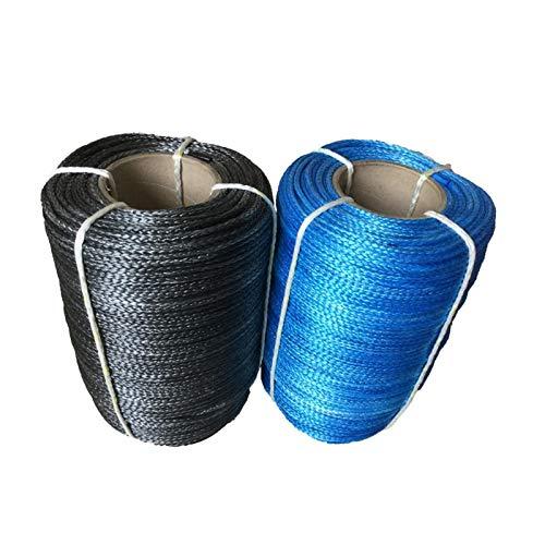 TYMYD Cuerda del cabrestante 7 mm x 100m UHMWPE sintético Cable del Torno de amarres línea de Cuerda Fuerte y Robusto (Color Name : Gray)