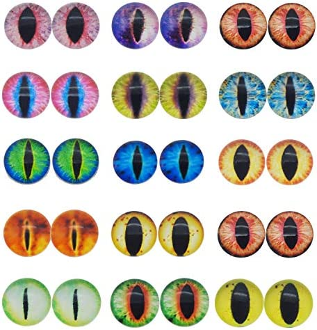 JJG 100PCS 6mm Dragon Eyes Round Glass Cabochon Flatback Jewelry Findings Horse Eyes Cat Eyes product image