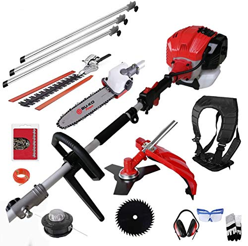 BU-KO 52cc Long Reach Petrol Multi Functional Garden Tool Including:...