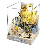 Fuaensm Maison de poupée miniature à monter soi-même - Cabane pour enfant - Maisonnette en bois - Modèle de construction - Cadeau d'anniversaire - À monter soi-même, C,