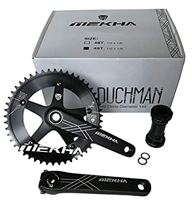 Mekha Duchman Track Crankset with External Bottom Bracket and BCD 144