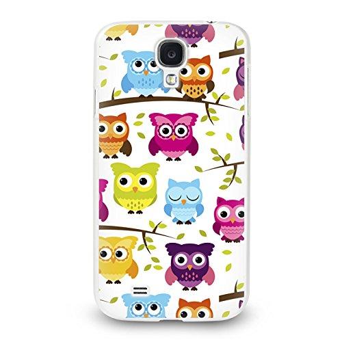 Trendario Handyhülle für Samsung Galaxy S4 Mini (Eule) - Hülle - Schutzhülle mit Motiv - TPU Silikon Hülle - Case - Cover - Schale - Backcover - Handytasche
