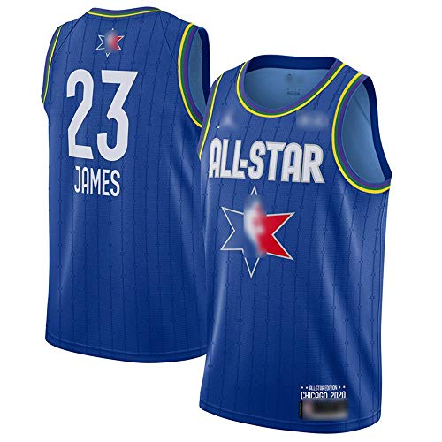ATI-HSKJ 2020 All-Star Basketball-Trikots # 23 Lebron James Fans Männer Basketball Westen Blau Neue Breathable Sweatshirt Jersey BH184,XL:180cm~185cm