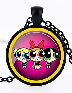 1 Powerpuff Girls Black Bezel Pendant Necklace #31
