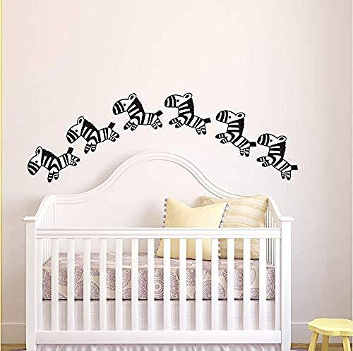Bbnnn Baby Nursery Cartoon Horse Wall Stickers Little Zebra Animal Wall Decals Kids Room Easy Wall Art Mural Cut Vinyl Home Decor