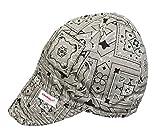 Comeaux Caps Reversible Welding Cap Grey Bandana Size 7 1/2