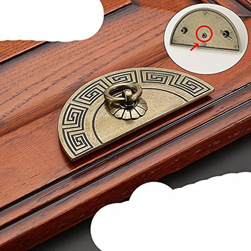 Manijas de gabinete de bronce antiguo vintage Manijas de muebles de estilo chino Perillas de cajones Tiradores de puertas de armario Herrajes para muebles-Bronce-4209-64mm