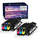 Allwork Compatible 950 951 XL Ink Cartridge Replacement for HP 950XL 951XL for Officejet Pro 8610 8600 8620 8630 8640 8660 8100 8615 8625 251dw 271dw 276dw Printer (2 Black 2 Cyan 2 Magenta 2 Yellow)
