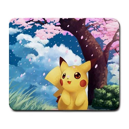 Child Kid Boy Girl Cute Rare Leaf Electric Thunder God Pikachu Pokemon Mouse Pad