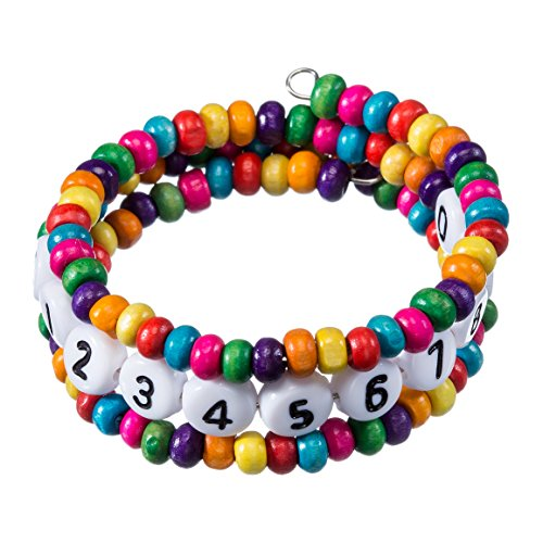 Notfallarmband - SOS Armband - Kinderarmband mit Namen oder Telefonnummer (runde Perlen)