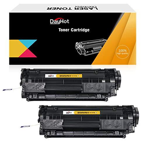 Dayhot Q2612A FAX-9 FAX-10 Cartucho de Tóner Compatible para HP Laserjet 1015 1010 3015 1020 1022 1018 1012 M1005 M1319f MFP MF4100 Used in Canon FAXPHONE LBP-2900(2 Negro)
