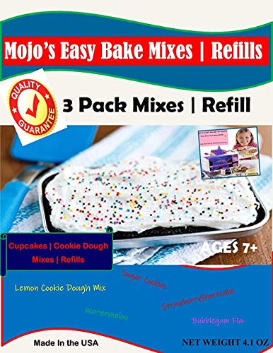 Mojo Stuff Galore Easy Bake Oven Mixes & Refill Cake   Cupcake   Cookies Refill 3 Pack