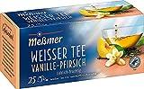 Meßmer Weißer Tee Vanille-Pfirsich   25 Teebeutel   Vegan   Glutenfrei   Laktosefrei