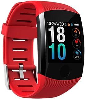 WJDZSB Pulsera De Actividad Inteligente Reloj Deportivo IP67 para Hombre Mujer con Monitor De Sueo Podmetro Contador Notificacin Whatsapps Facebook Llamadas iOS Androidred