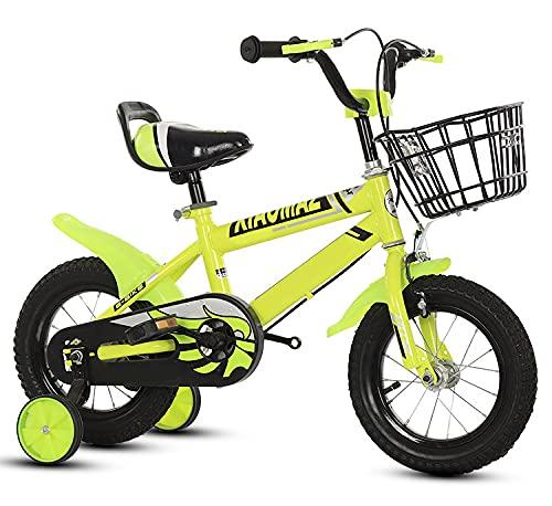 HAOANGZHE Bicicletas Niños, Avec Frein À Main, Pédales Arrière, Vélo Pour Enfants De 12 À 16 Pouces Nest Pas Limité, Cest Le Meilleur Cadeau Pour Les Enfants