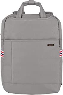 5 Color Fashion Leisure 600D Nylon Laptop Backpack Large Capacity Multi-Function Backpack (Color : Gray, Size : S)