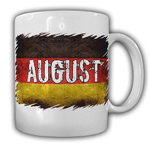 Tasse August Name Kaffeetasse Deutschlandflagge Deutschland Fahne#22054