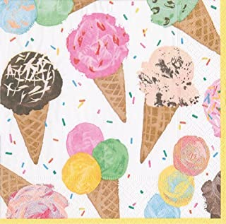 Kids Birthday Party Supplies Ice Cream Party Paper Napkins Scoop Pk 40