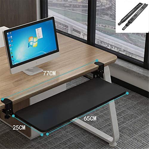 GAXQFEI bajo el escritorio del teclado de ordenador Bandeja, teclado multifunción cajones y plataformas teclado Punch-Libre bandeja debajo del soporte de almacenamiento en rack Tabla ratón Cajones Pl