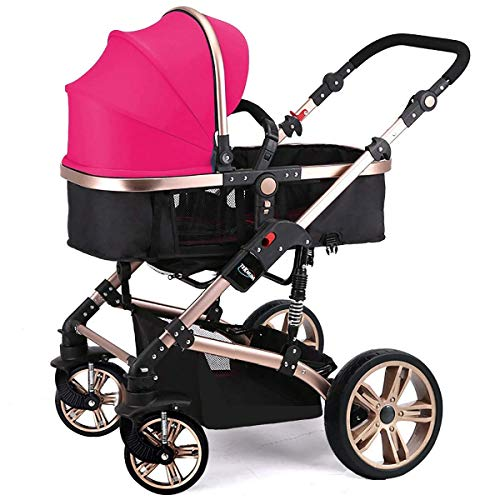 Best Deals! Travel System Infant Carriage Portable Baby Stroller 3 in 1, Travel System with Baby Pra...