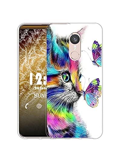 Sunrive Kompatibel mit Doogee F5 Hülle Silikon, Transparent Handyhülle Schutzhülle Etui Hülle (Q Katze 4)+Gratis Universal Eingabestift MEHRWEG