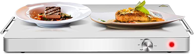 Giantex Electric Warming Tray/Trivet Food Warmer Stainless-Steel Top Panel with Adjustable Temperature Control Perfect for Restaurants and Home Buffets Dinners Party Energy Efficient Hot Plate