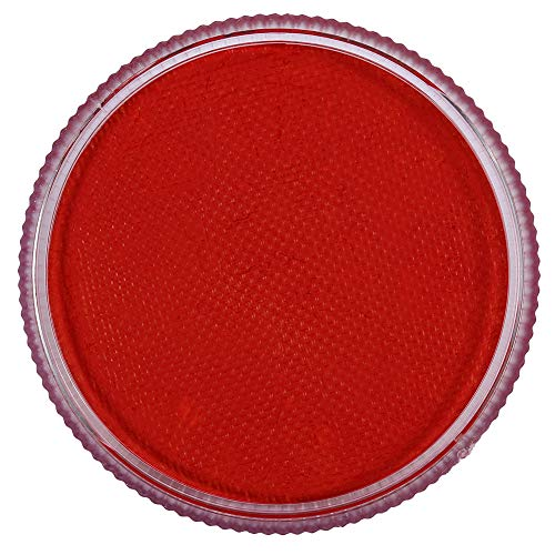 Peinture de visage Pigment, 12 couleurs Professionnel à base d'eau Peinture corporelle mat Pigment Stage Visage Couleur Maquillage Halloween Body Makeup Party Supplies(rouge)