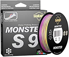 SeaKnight Monster S9 9 Strands PE Braided Fishing Line Super Strong 300M/327Yds 500M/546Yds Long Casting Best Fishing Line