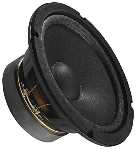 MONACOR SP-17/4 Universal-Lautsprecher, Loudspeaker ideal für die Wiedergabe des Tiefmittelton-Bereichs, Mid-Range Lautsprecher für den Selbsteinbau, in Schwarz