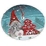 Faldón de árbol de Navidad, preciosa Sprite Navidad de pie nevada feliz Navidad árbol rojo copo de nieve Navidad gran estera del árbol de Navidad, Año Nuevo, fiestas festivas decoraciones 36 pulgadas