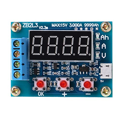 LTKPOZO - Battery Testers - Zb2l3 Li Ion Lithium Lead Acid Battery Capacity Meter Discharge Tester - Testers Small Battery Load Digital Li-ion Batteries Every Automotive Type Best