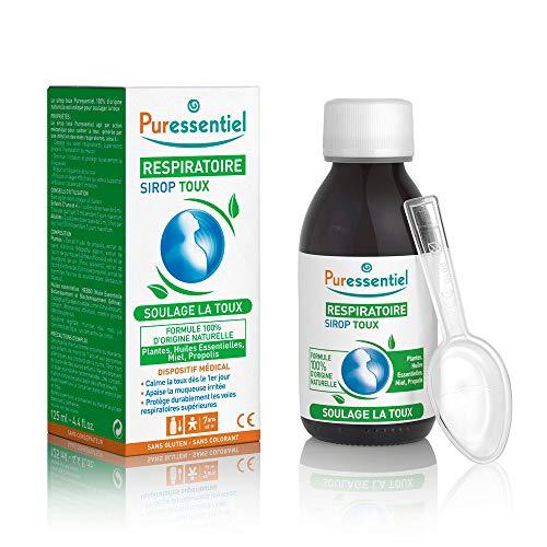 Puressentiel - Respiratoire - Sirop Toux aux Plantes, Huiles Essentielles, Miel, et Propolis - Soulage la toux - Actifs 100% d'origine naturelle - 125 ml