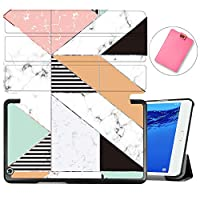 MAITTAO Case For Huawei MediaPad M3 Lite 8.0 CPN-W09/AL00, Slim Folio Smart Stand Cover with Auto Wake/Sleep For Huawei Mediapad M3 Lite 8.0 inch 2017 Released Android Tablet, Marble 1